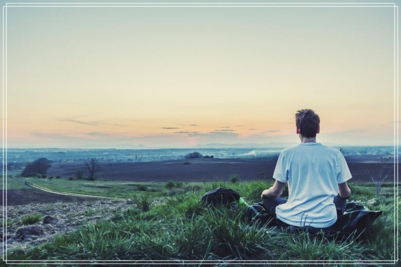 Meditar.